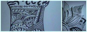 blackand white doodling