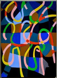 Abstract art piece.