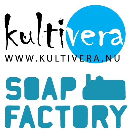 Simple logos for Kultivera, www.kultivera.nu, and the Soap Factory