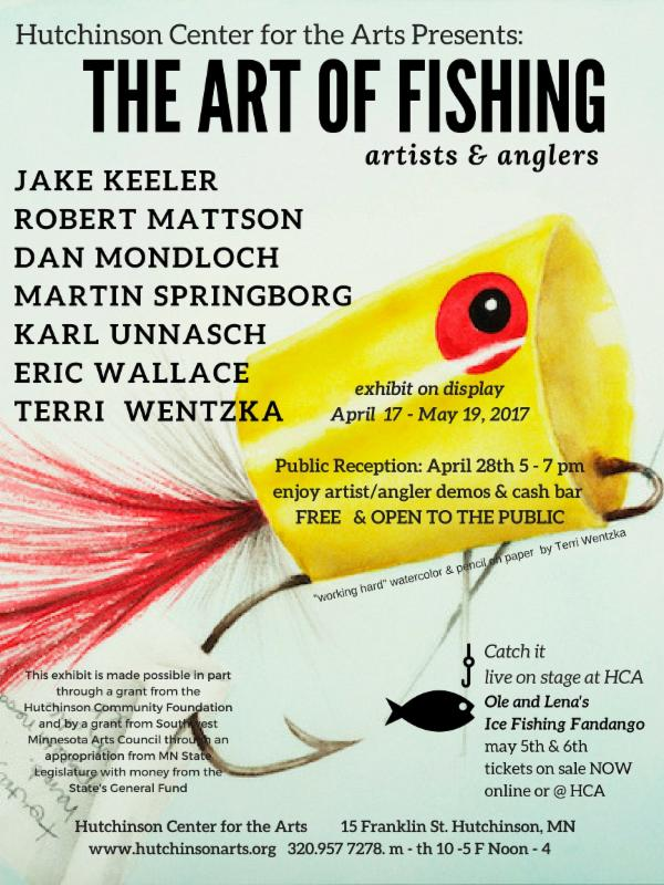 Poster for event, features a angler hook.
