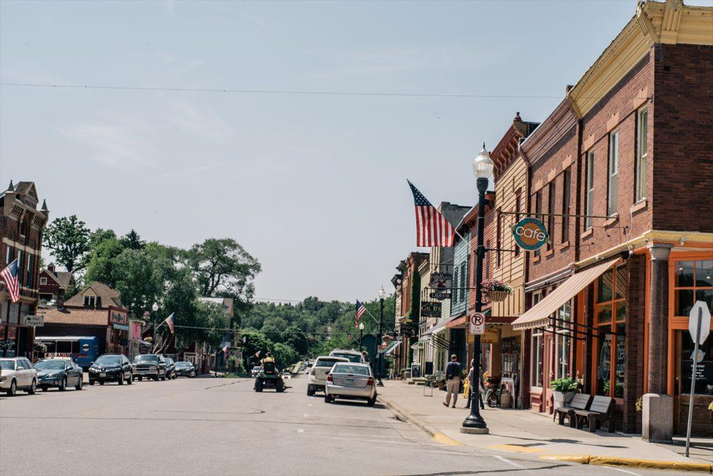 Downtown street scene