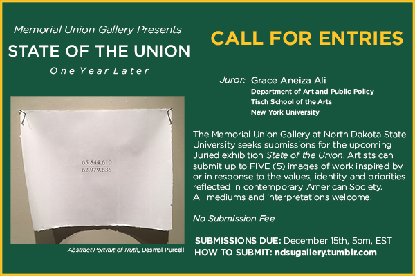 Call for Entries: Memorial Union Gallery at NDSU | Southwest