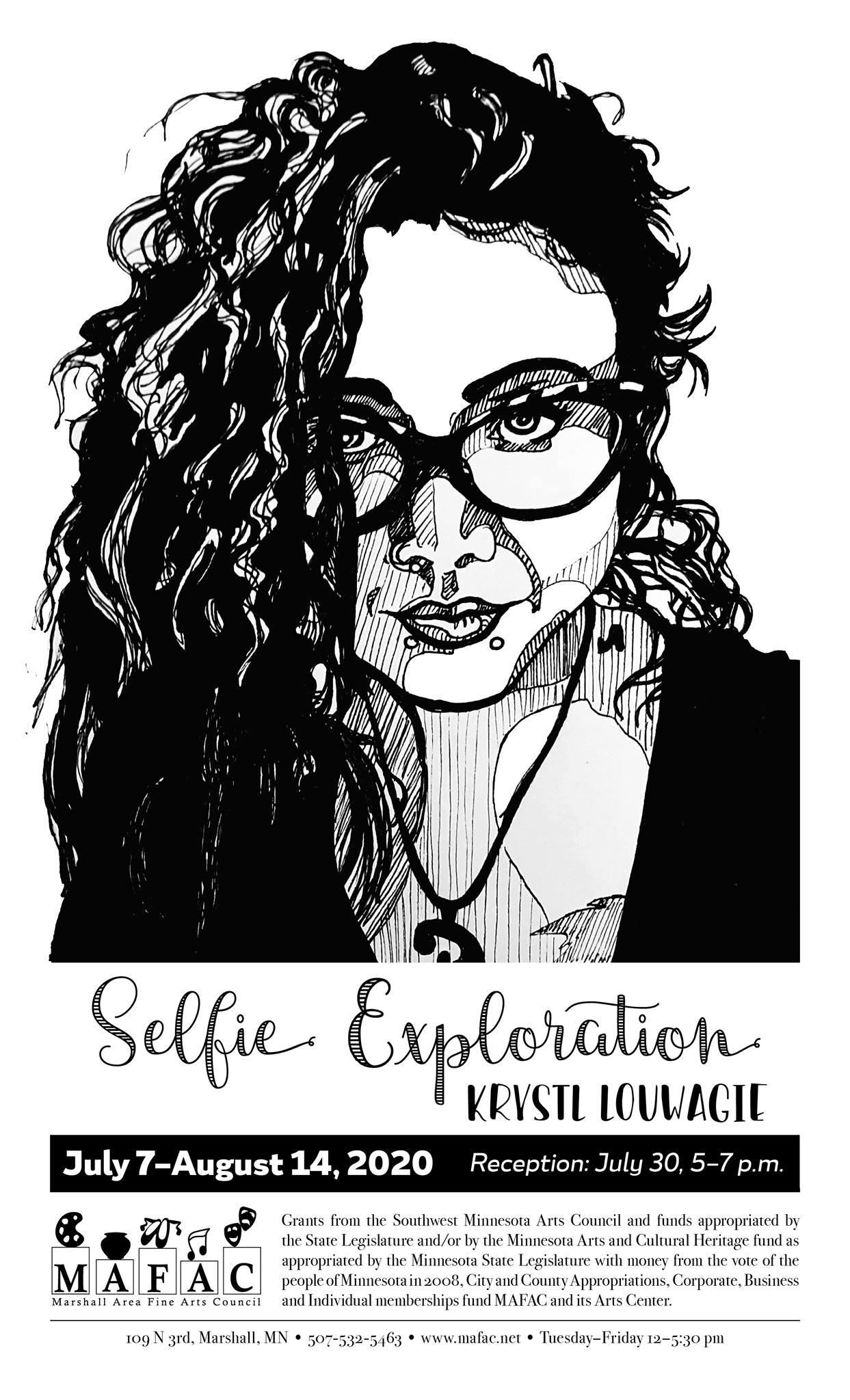 Self portrait done in sharpie marker.