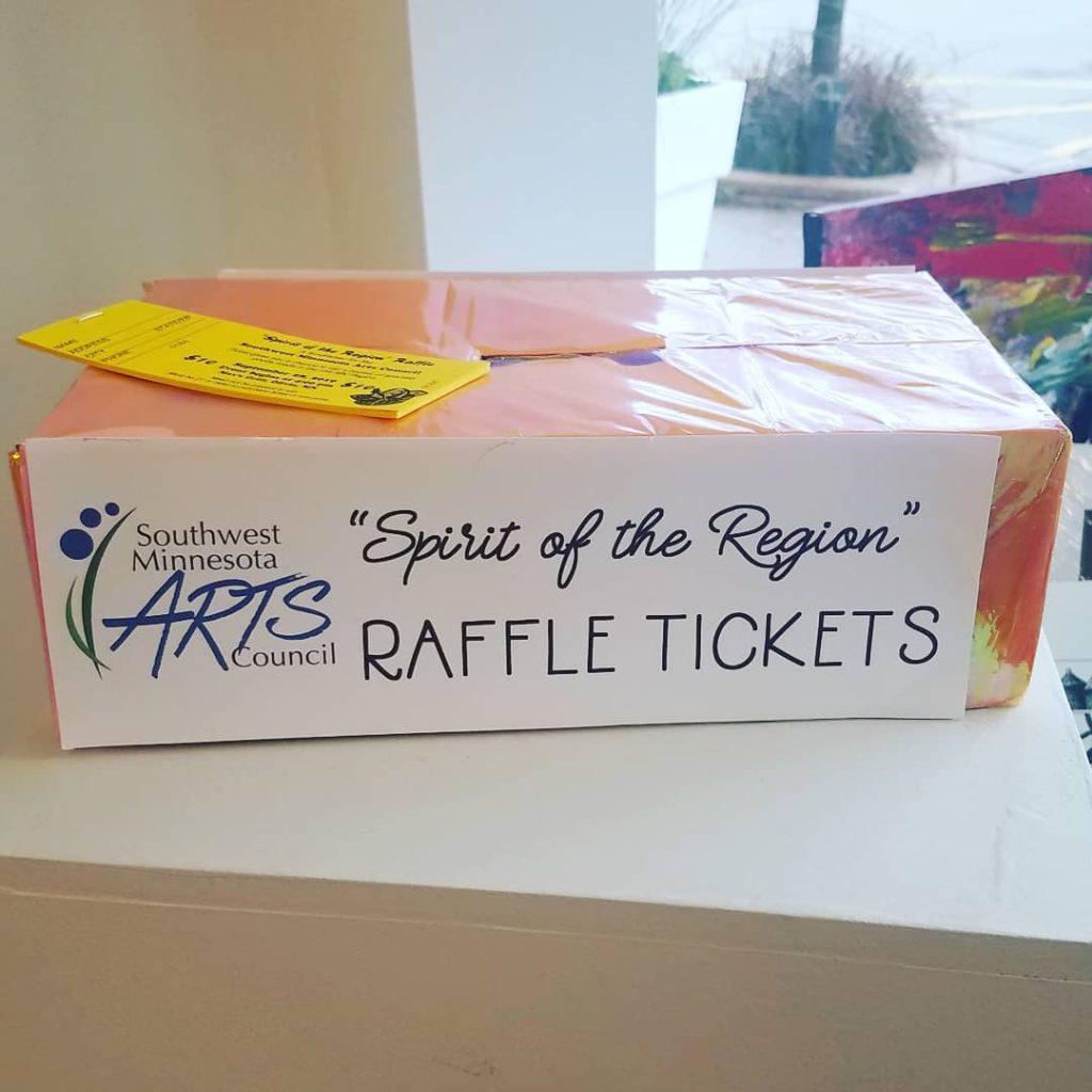 Photo of Spirit of the Region Raffle Tickets box