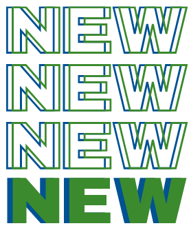 Text says NEW NEW NEW in green and blue