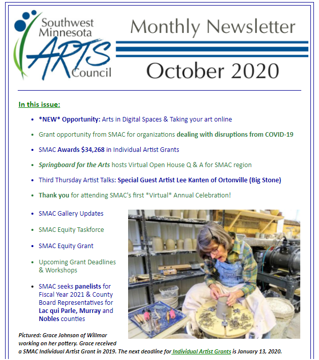 Cover of the 2020 October Newsletter