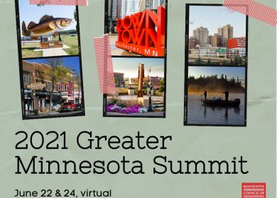 2021 Greater Minnesota Summit. June 22 & 24. Minnesota Council of Nonprofits.