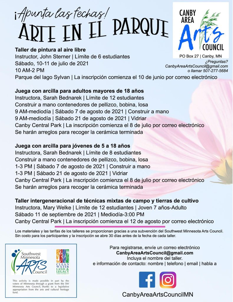Poster/flyer with text in Spanish.