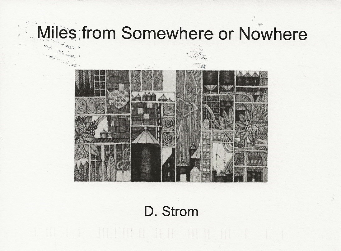 Miles from Somewhere or Nowhere. D. Strom. Black and while abstract rural landscapes.