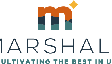 """City of Marshall logo. """"Marshall: Cultivating the Best In Us"""""""