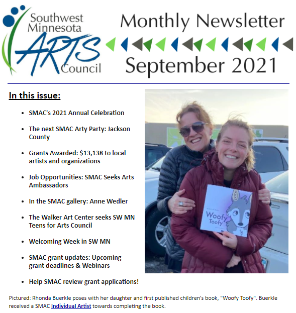 Cover of SMAC September newsletter. Click on it to bring you to the newsletter.