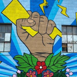 Chroma Zone 2021 mural by Miskitoos Henning in St. Paul, MN.